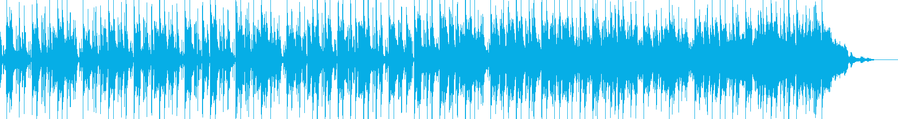 爽やかなジャズ風の再生済みの波形