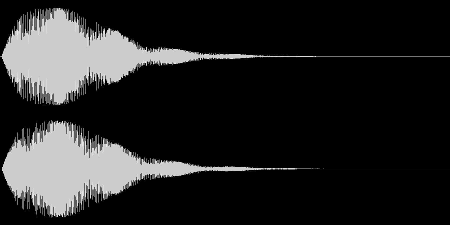 ゥワ~ンワ~ン(シンセ)の未再生の波形