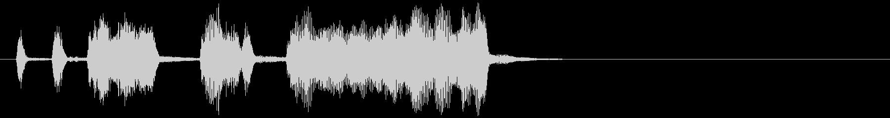 響きが強いミディアムテンポ音楽の未再生の波形