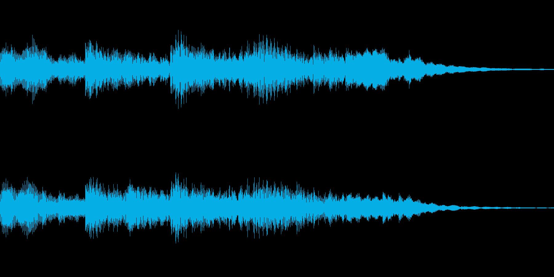 不気味で恐い感じ・ホラー系の音素材ですの再生済みの波形
