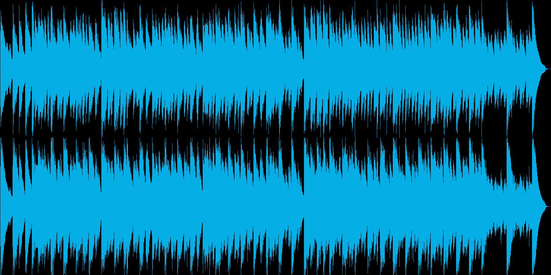 バロックのチェンバロだけのアンサンブルの再生済みの波形