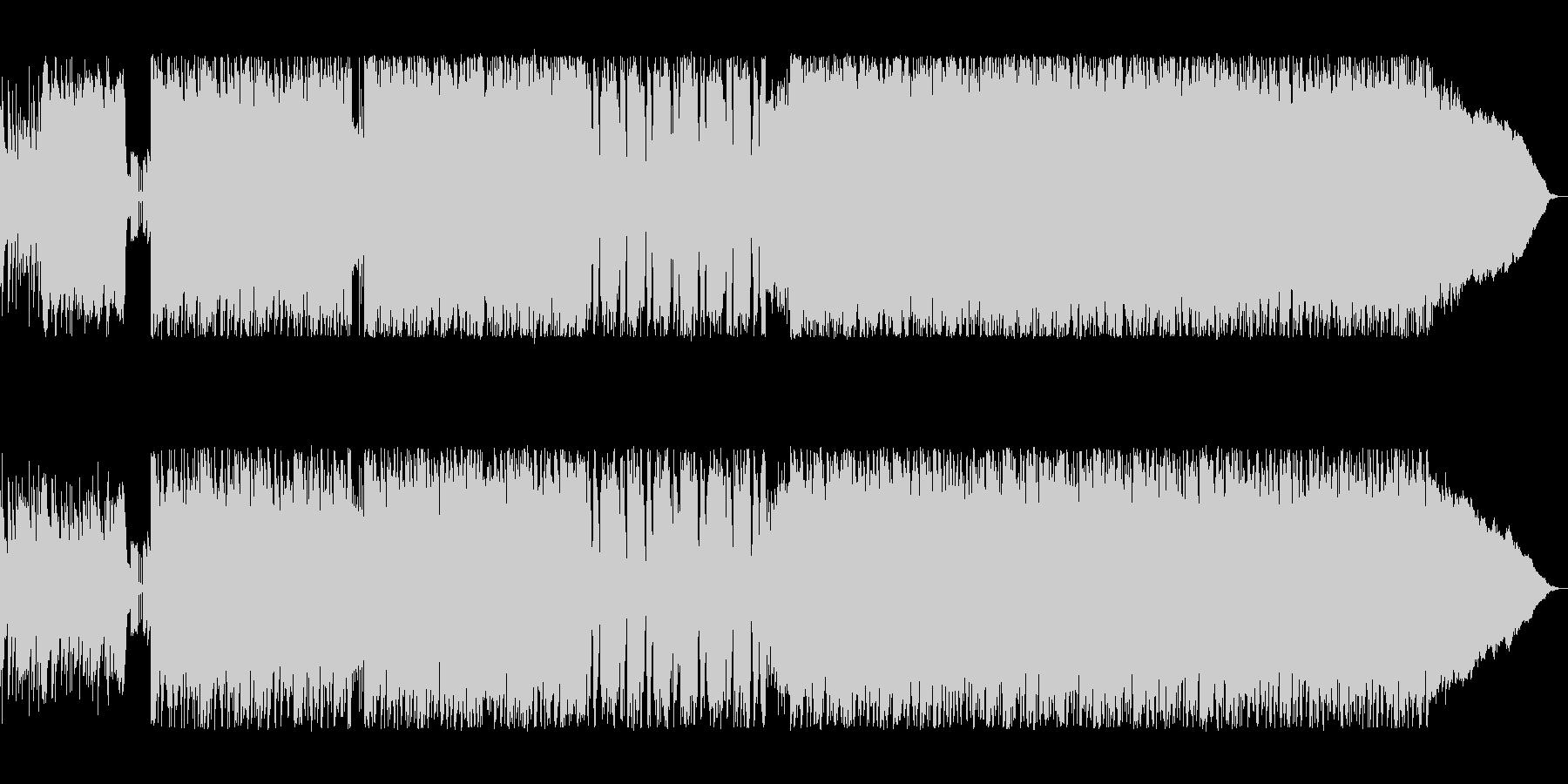 ドラムが炸裂するハードロックの未再生の波形