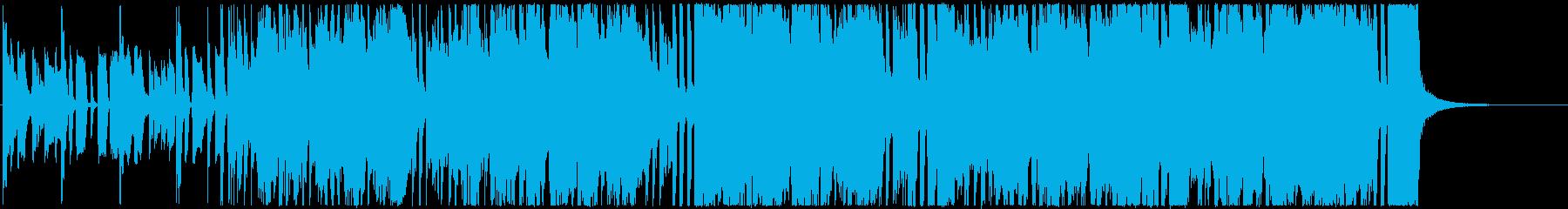 エレキギターのリフが印象的なファンクの再生済みの波形