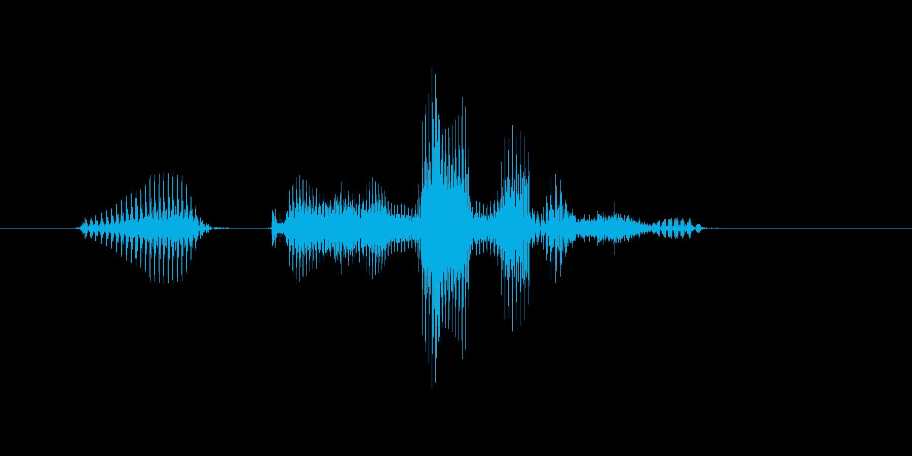 ミックスダブルスの再生済みの波形