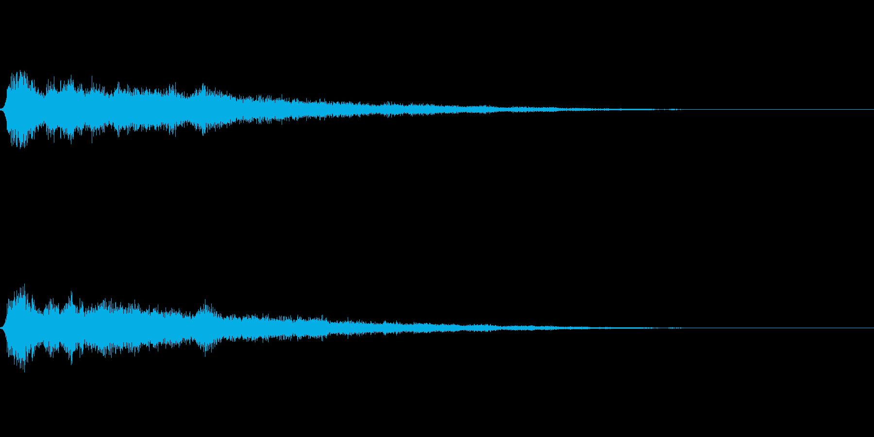 氷魔法01(冷気属性魔法)の再生済みの波形