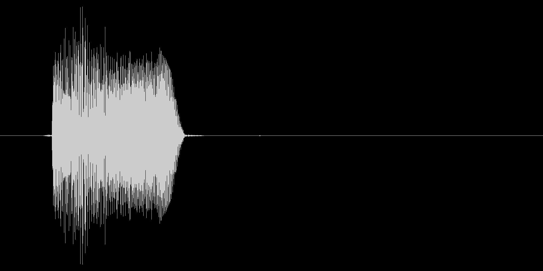 ピコッ(ボタン、スイッチ、押す)の未再生の波形