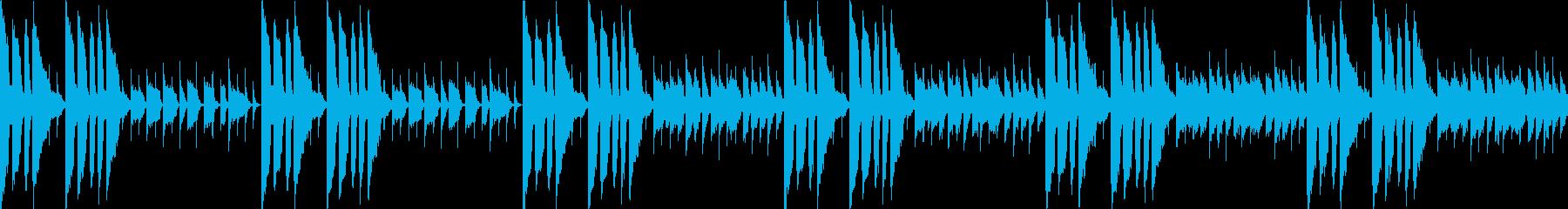 何かから解放されたな曲(ループ仕様)の再生済みの波形