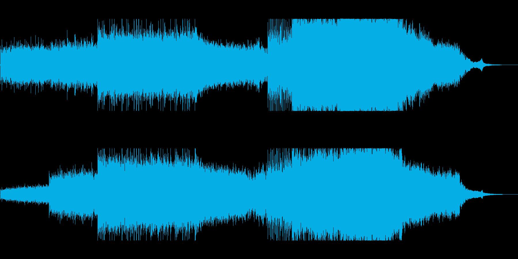エコーの効いた神秘的なイージーリスニングの再生済みの波形