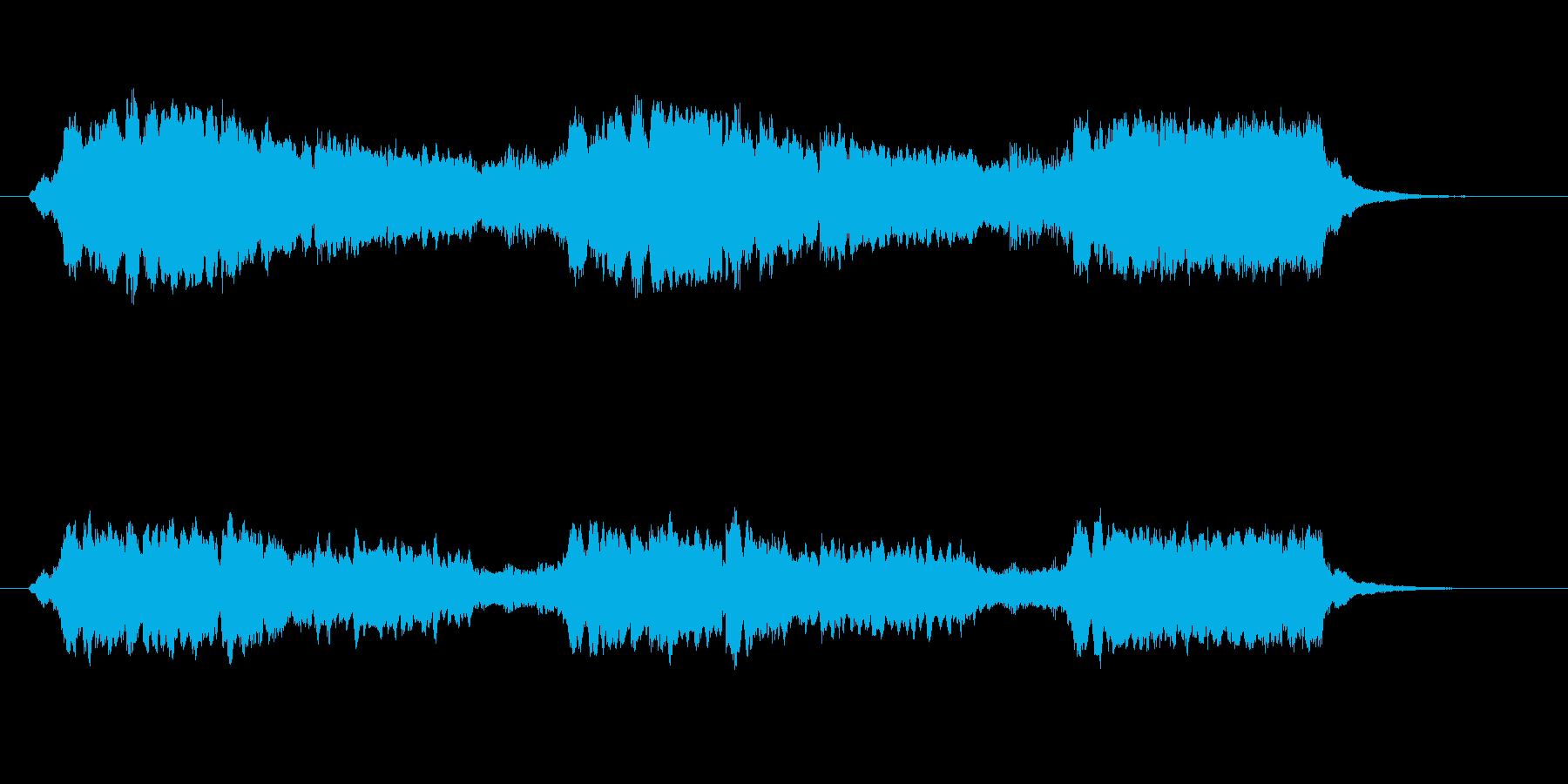 明るく爽やかなシンセサウンド短めの再生済みの波形