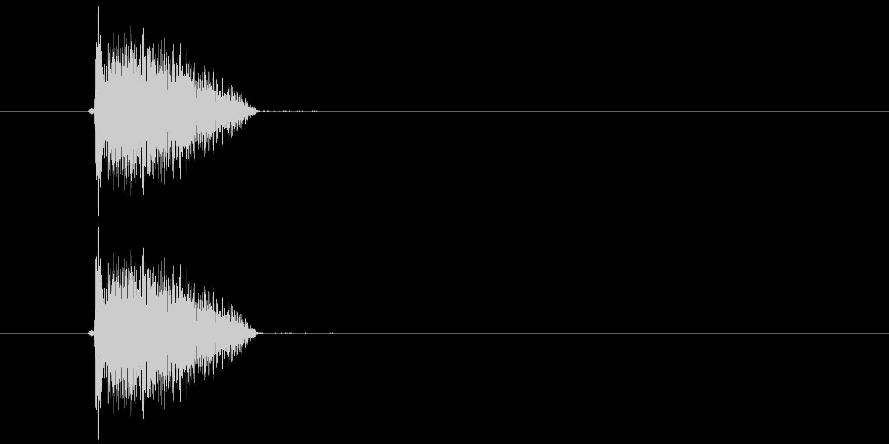 ビシッ(打撃音)の未再生の波形