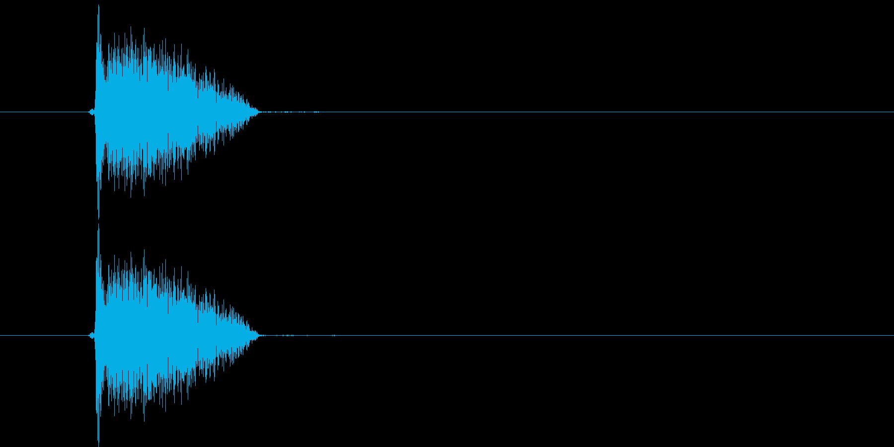 ビシッ(打撃音)の再生済みの波形