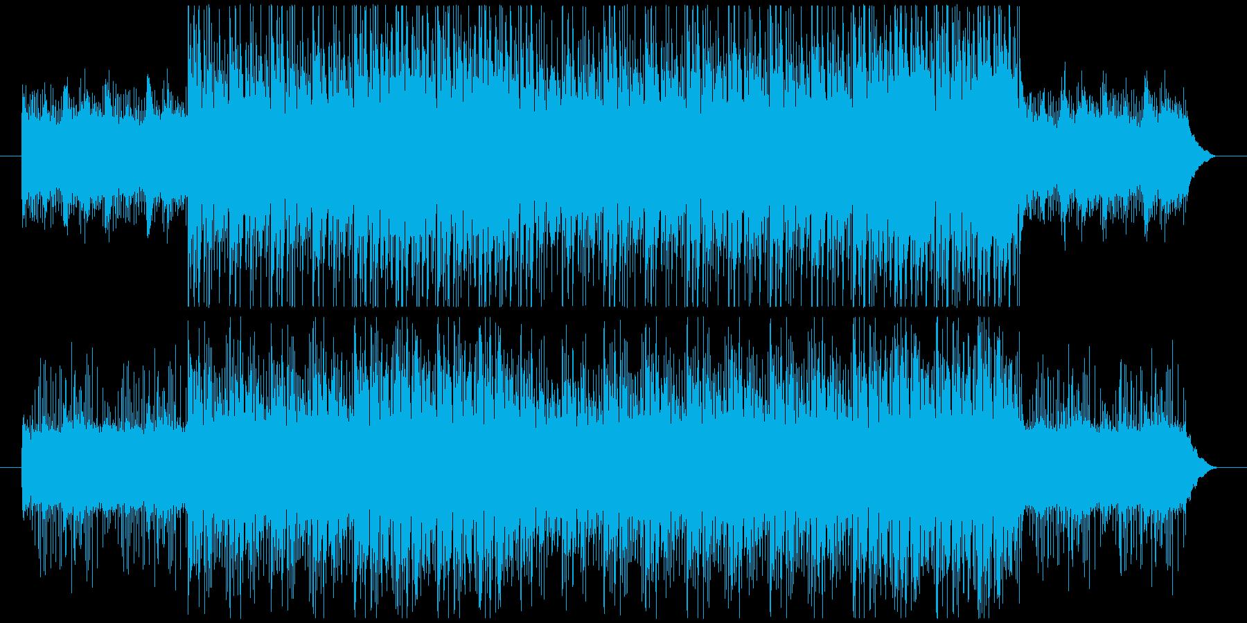 パーカッションによるダークなBGMの再生済みの波形
