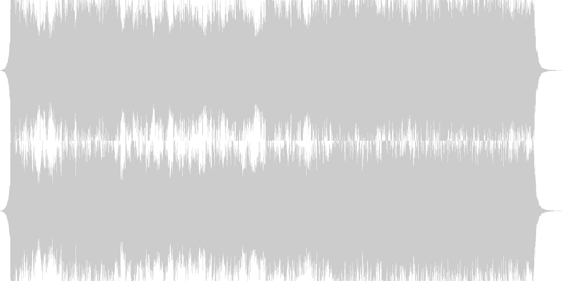 壮大で悲愴なオーケストラの未再生の波形