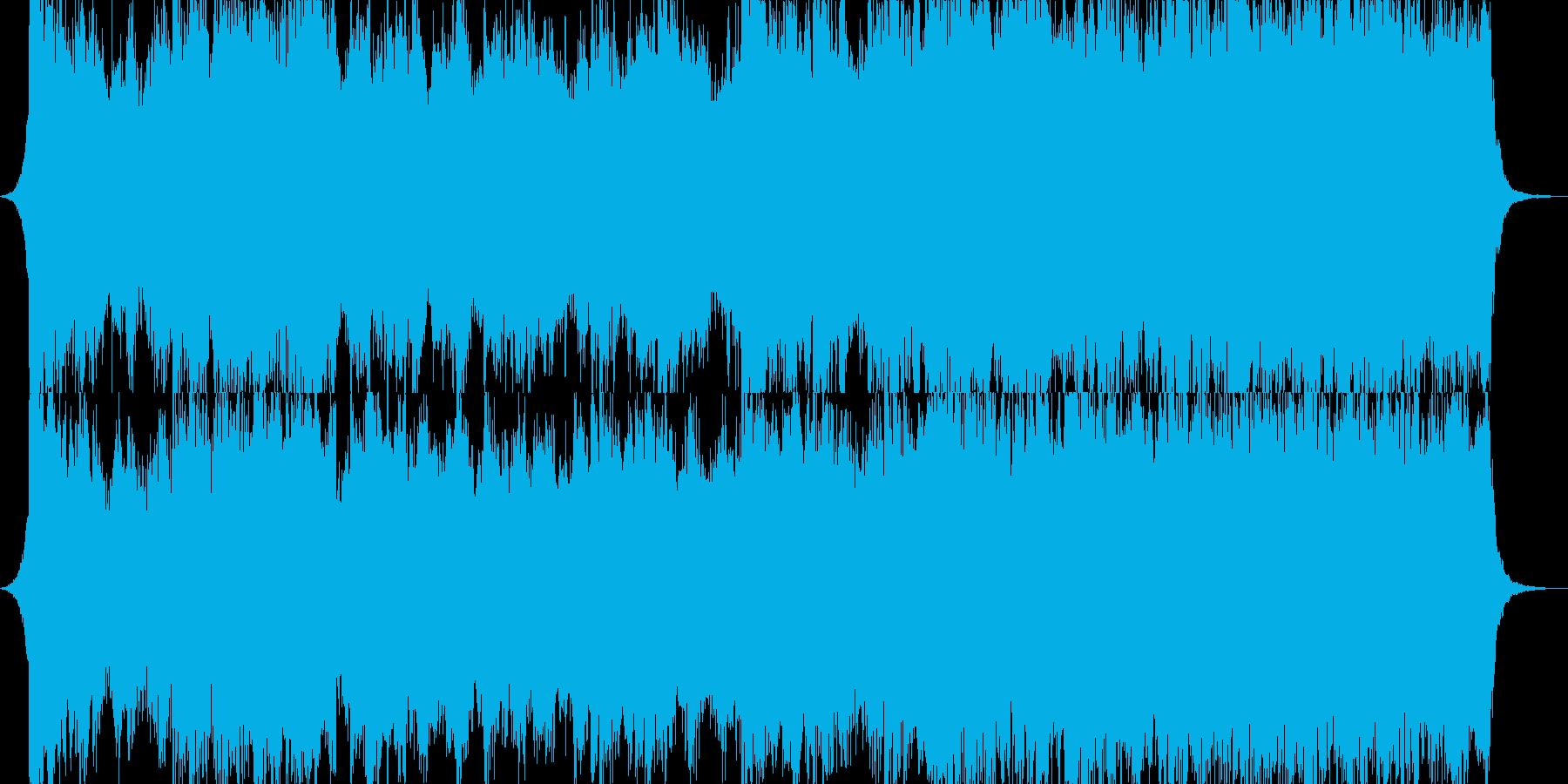 壮大で悲愴なオーケストラの再生済みの波形