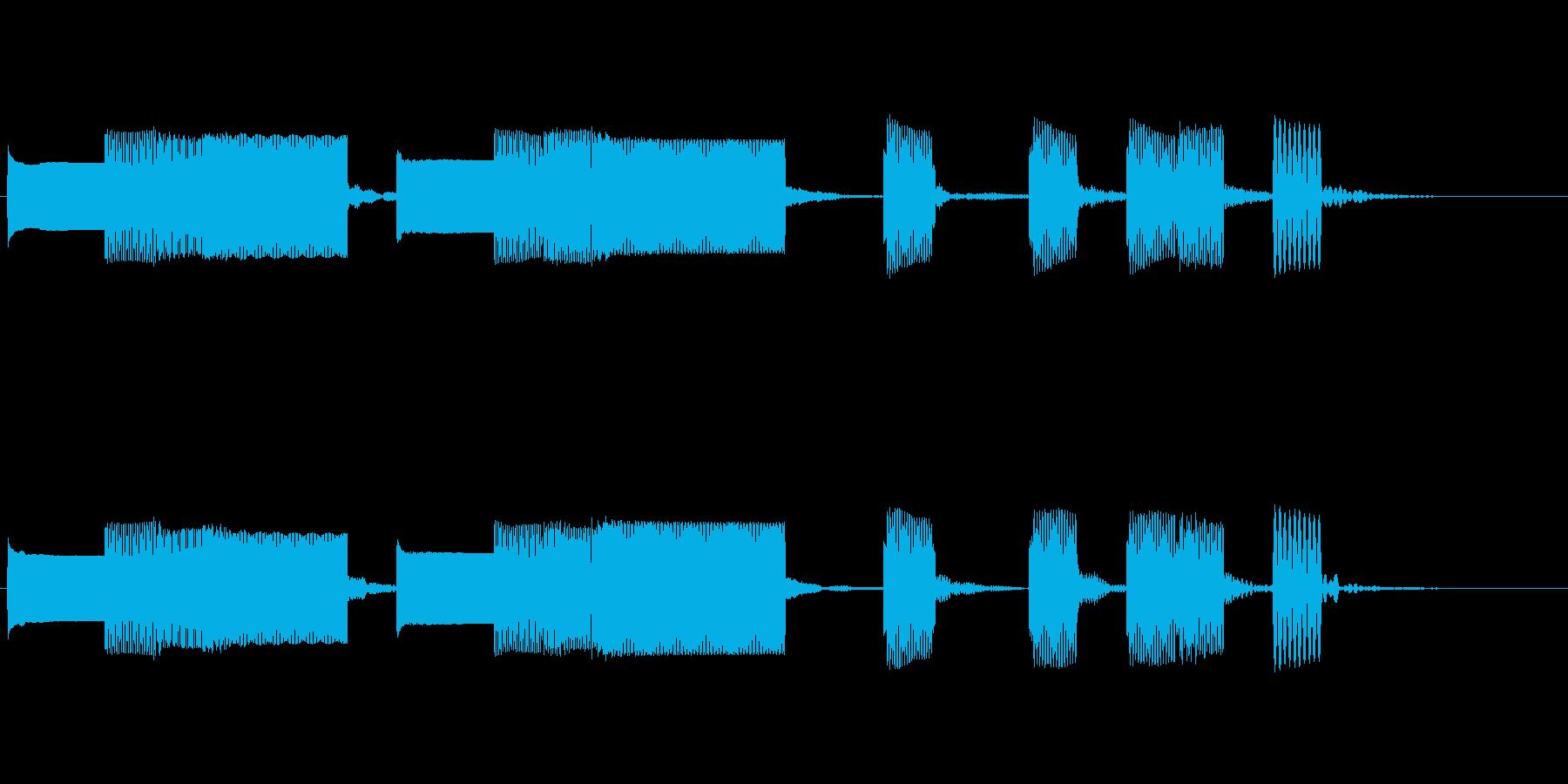 柔らかくレトロな入店音or宿屋風ジングルの再生済みの波形
