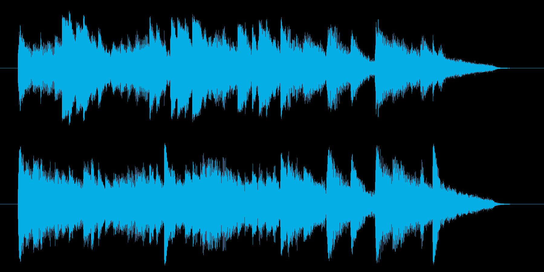 ピアノ主体のゆったりとしたジングル曲ですの再生済みの波形