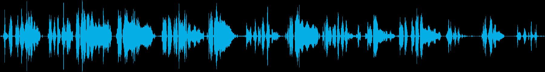 うえーん、えーんえーんの再生済みの波形