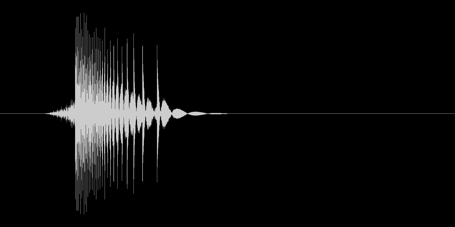 ゲーム(ファミコン風)ヒット音_038の未再生の波形