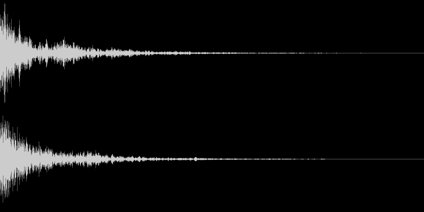 ドーッ(インパクト)の未再生の波形