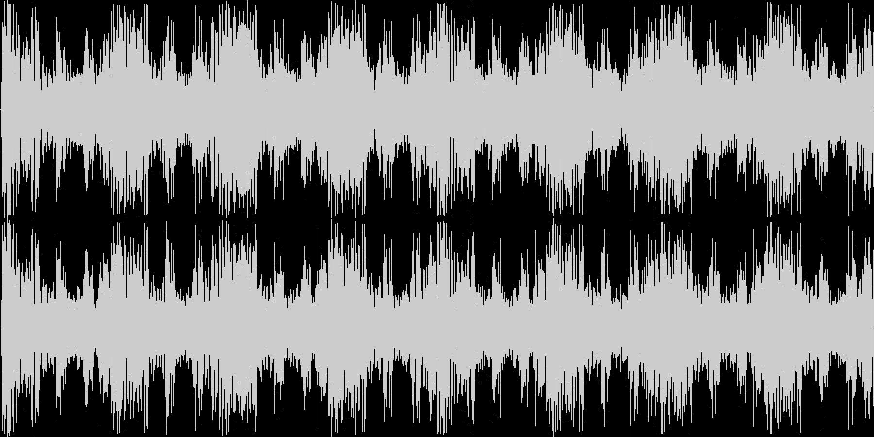 ミステリアスなパーカッションループBGMの未再生の波形