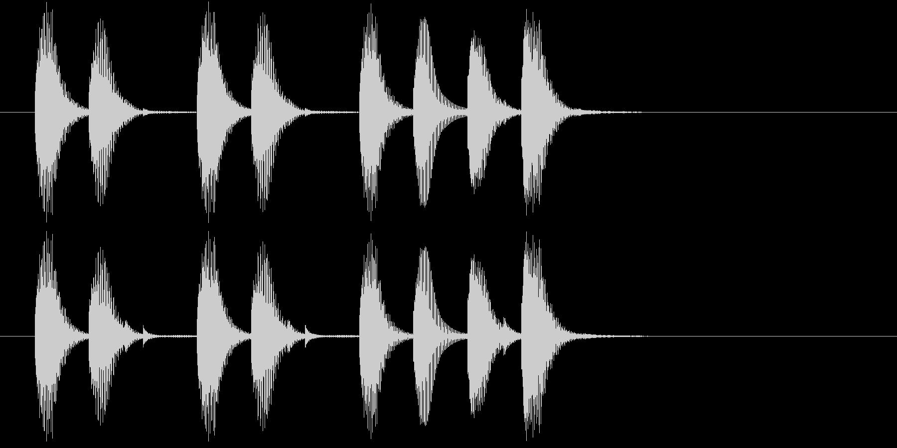 明るめで始まりに使えるジングルの未再生の波形