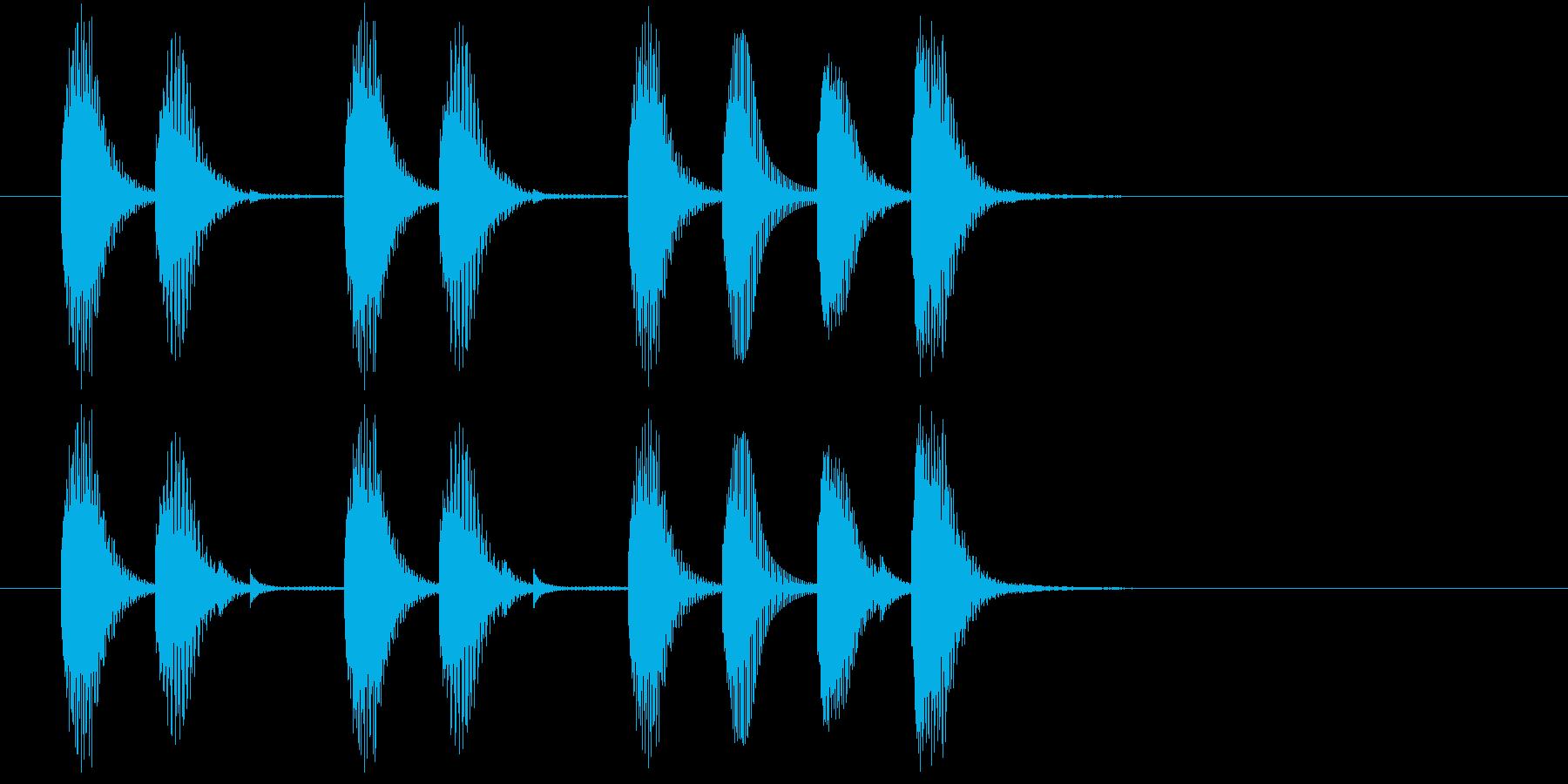 明るめで始まりに使えるジングルの再生済みの波形