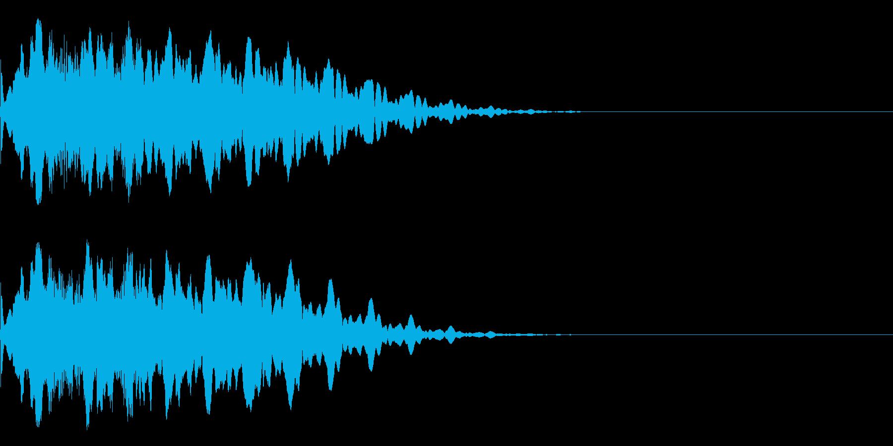 キュイーン。音低め、ほんの少し長め。の再生済みの波形