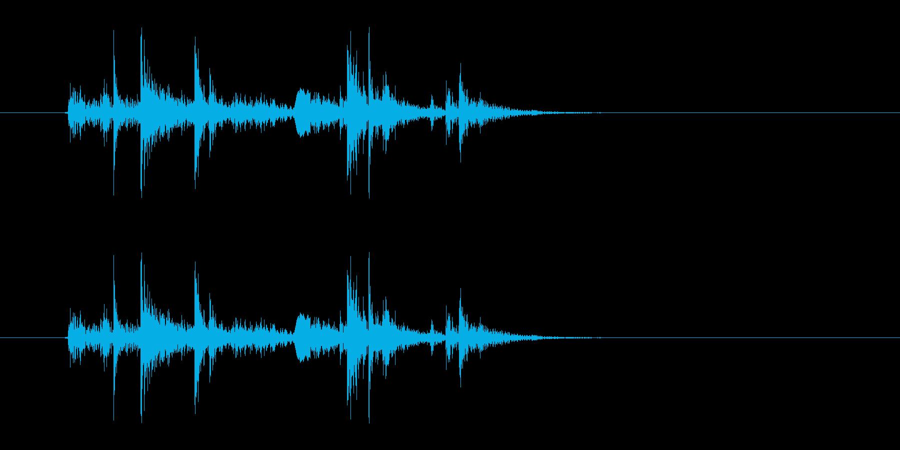 ガチャ(ドアの開閉音.04)の再生済みの波形