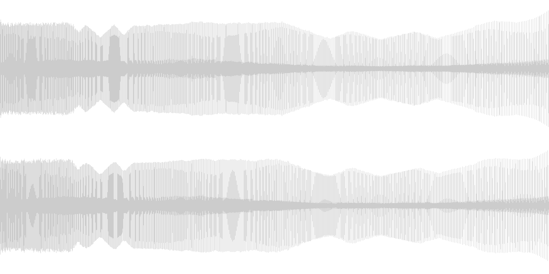 8ビット風下降音の未再生の波形
