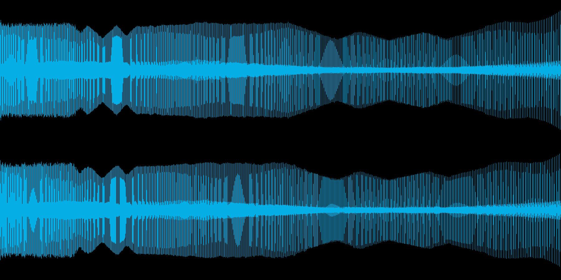 8ビット風下降音の再生済みの波形