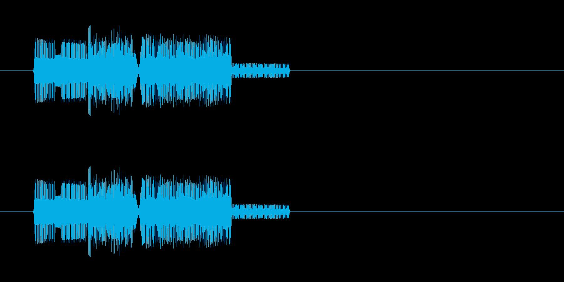 ファミコン風のレトロな音ですの再生済みの波形