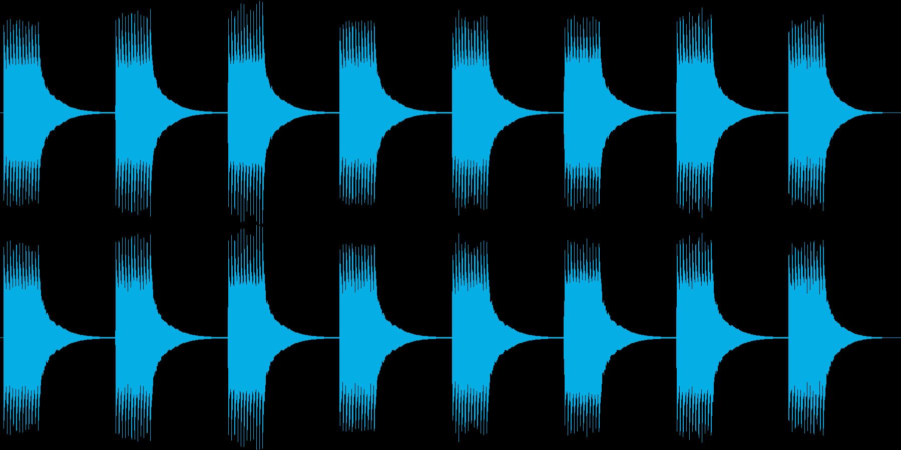 チリリ...。黒電話のベルB(長め)の再生済みの波形