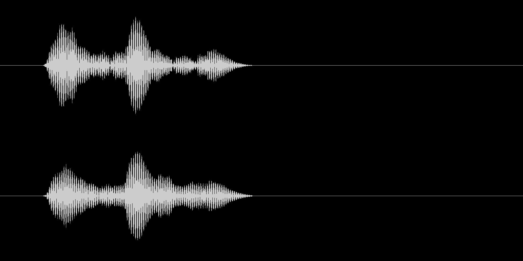カッ(木製の物を叩く乾いた音)の未再生の波形