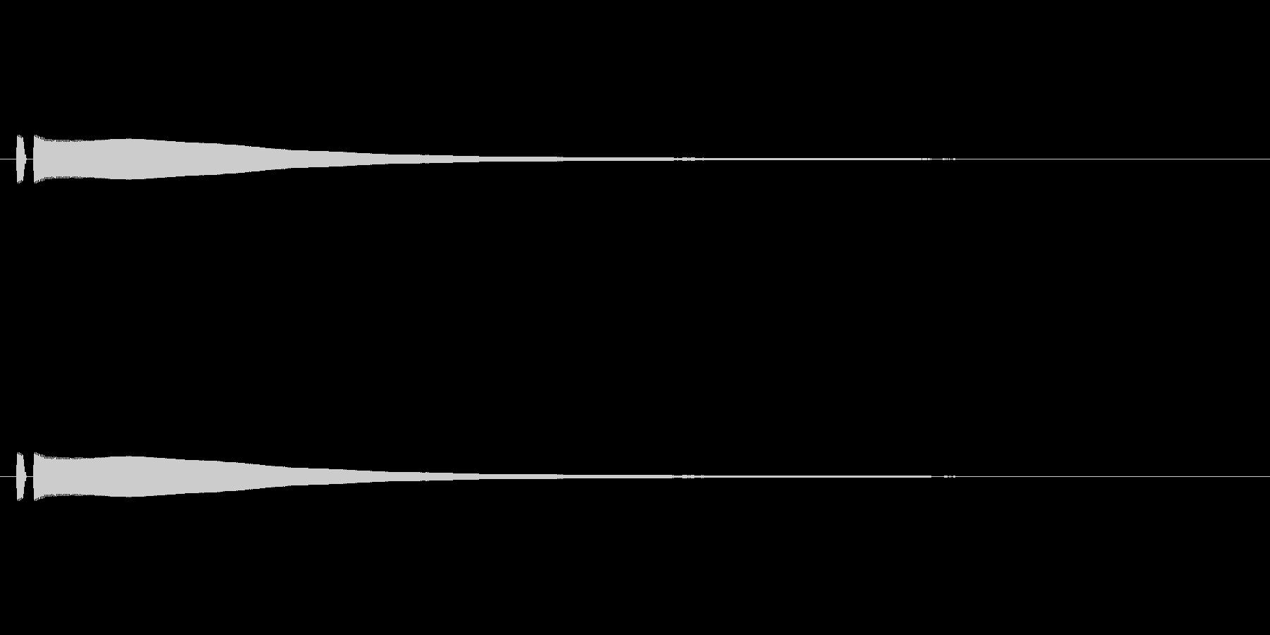 ポーン(飛行機シートベルト装着サイン)の未再生の波形