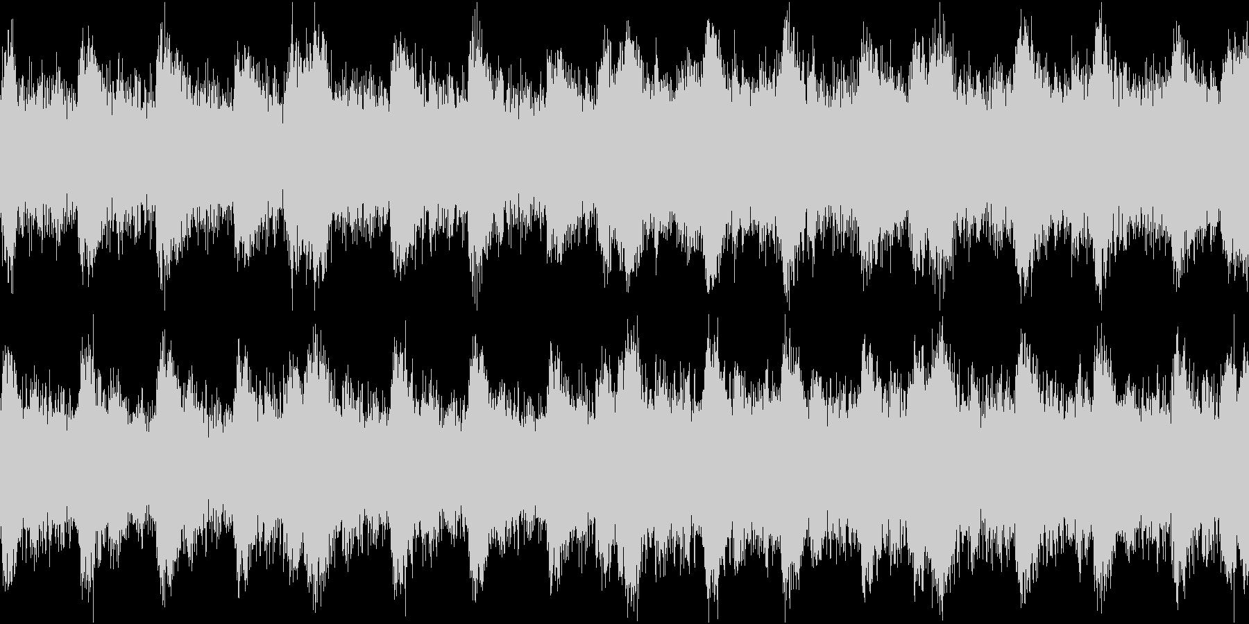 緊迫感のある盛り上がるハリウッド系ループの未再生の波形