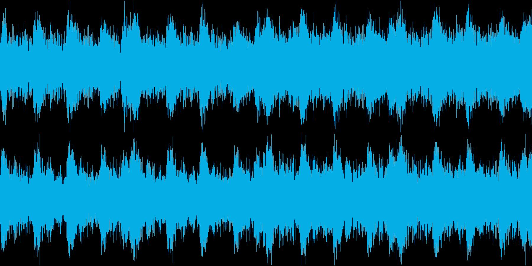 緊迫感のある盛り上がるハリウッド系ループの再生済みの波形