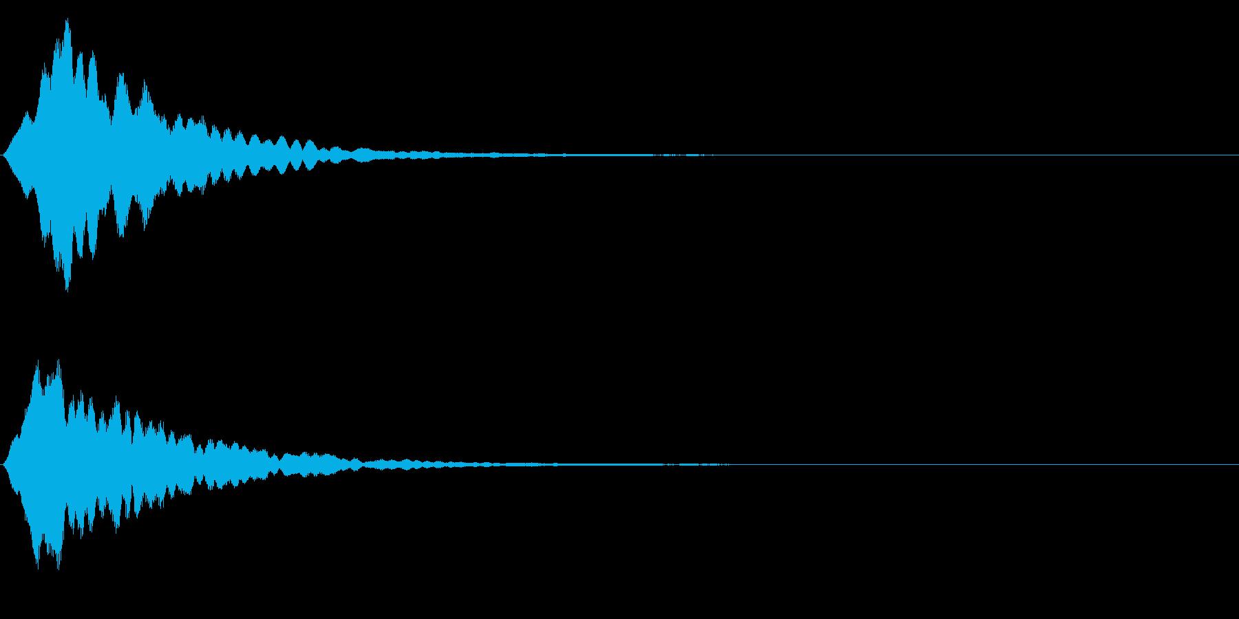 ゲームスタート、決定、ボタン音-089の再生済みの波形