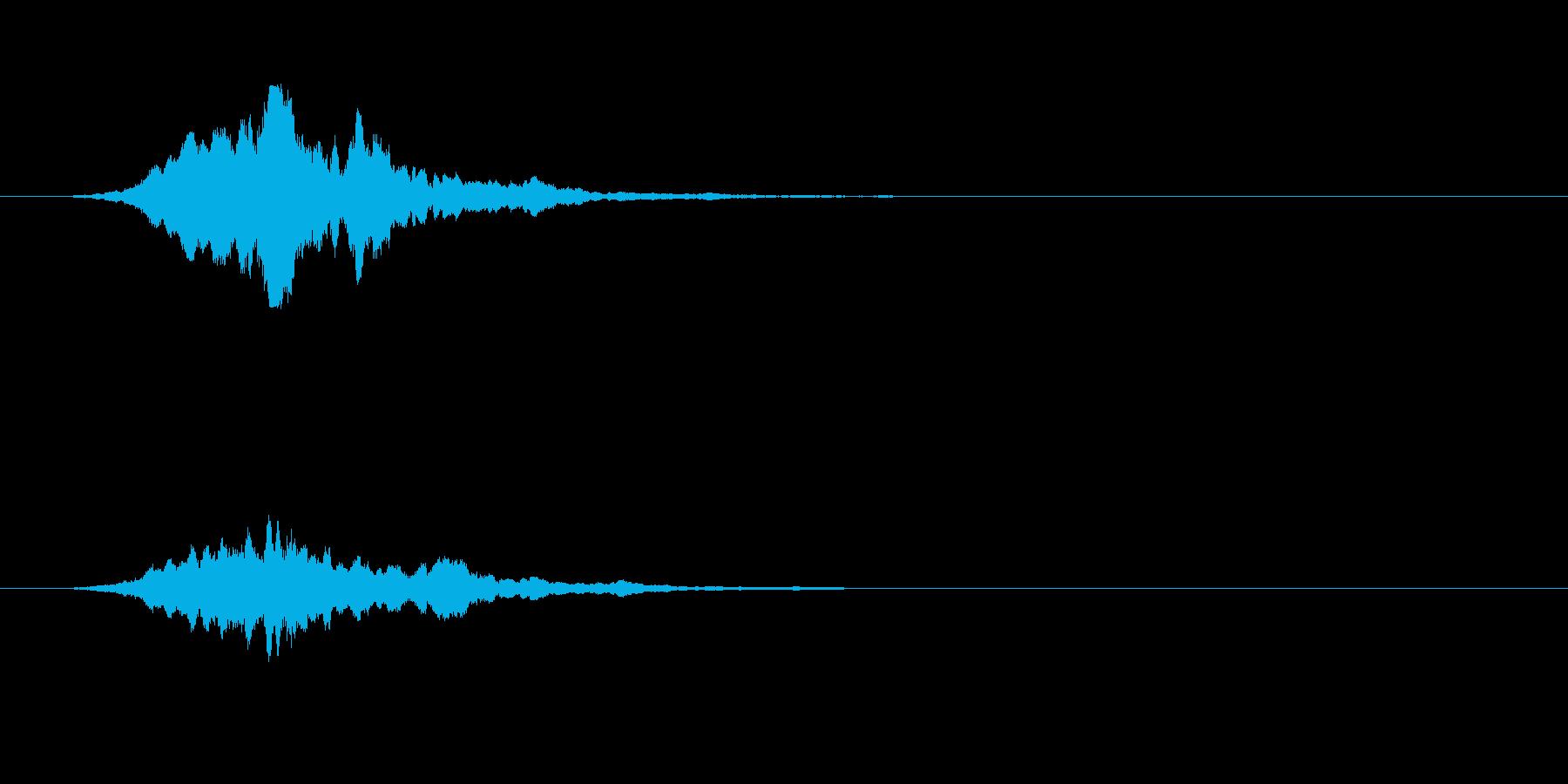 幽霊などの出現音の再生済みの波形