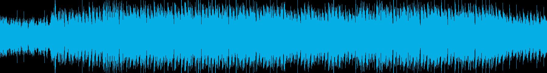 プレゼンに! 冷たく金属的で不思議な音楽の再生済みの波形