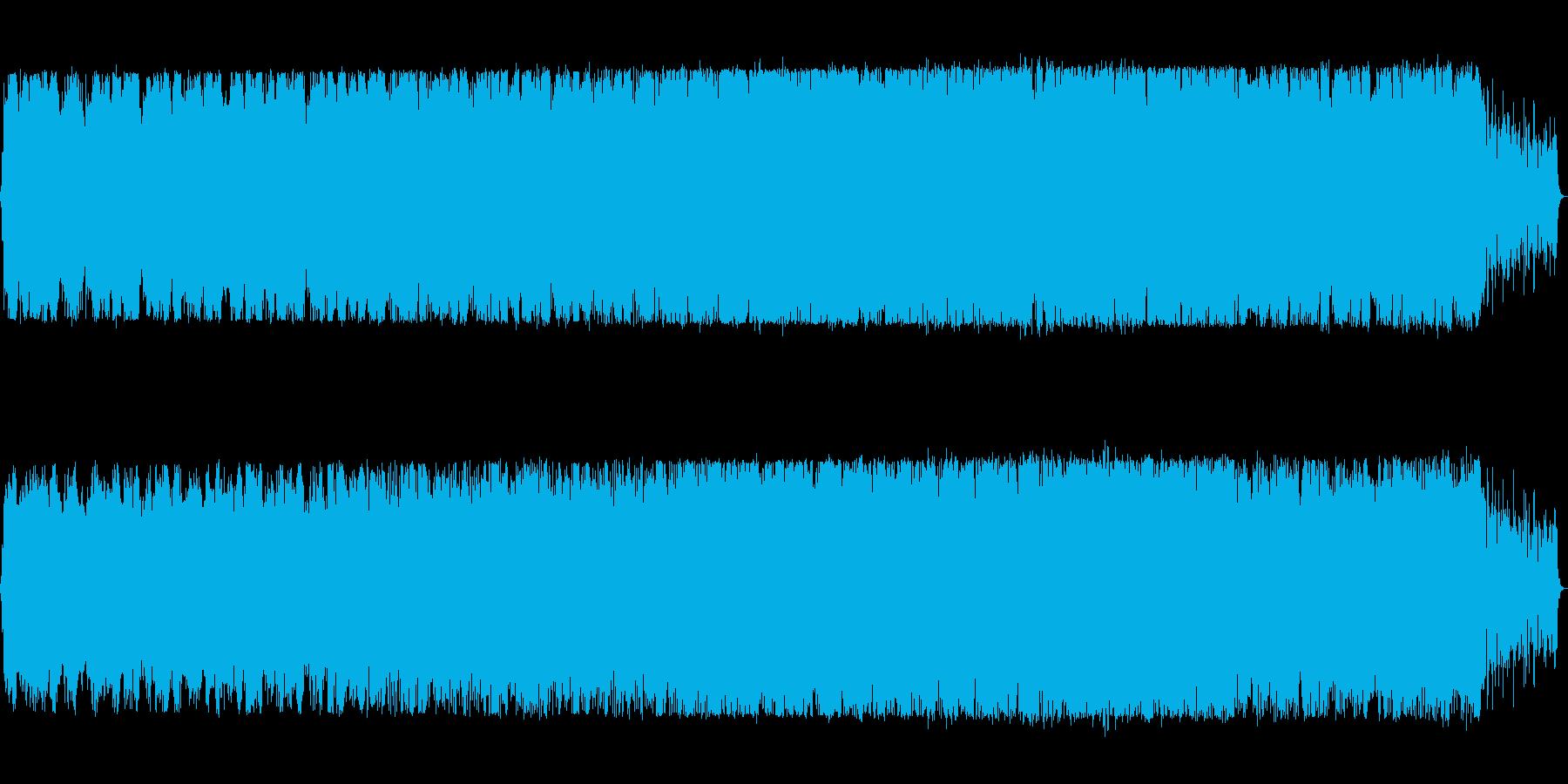 静かな場面のトランスの再生済みの波形
