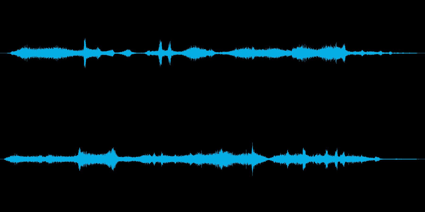 鳥の鳴き声と海岸線の再生済みの波形