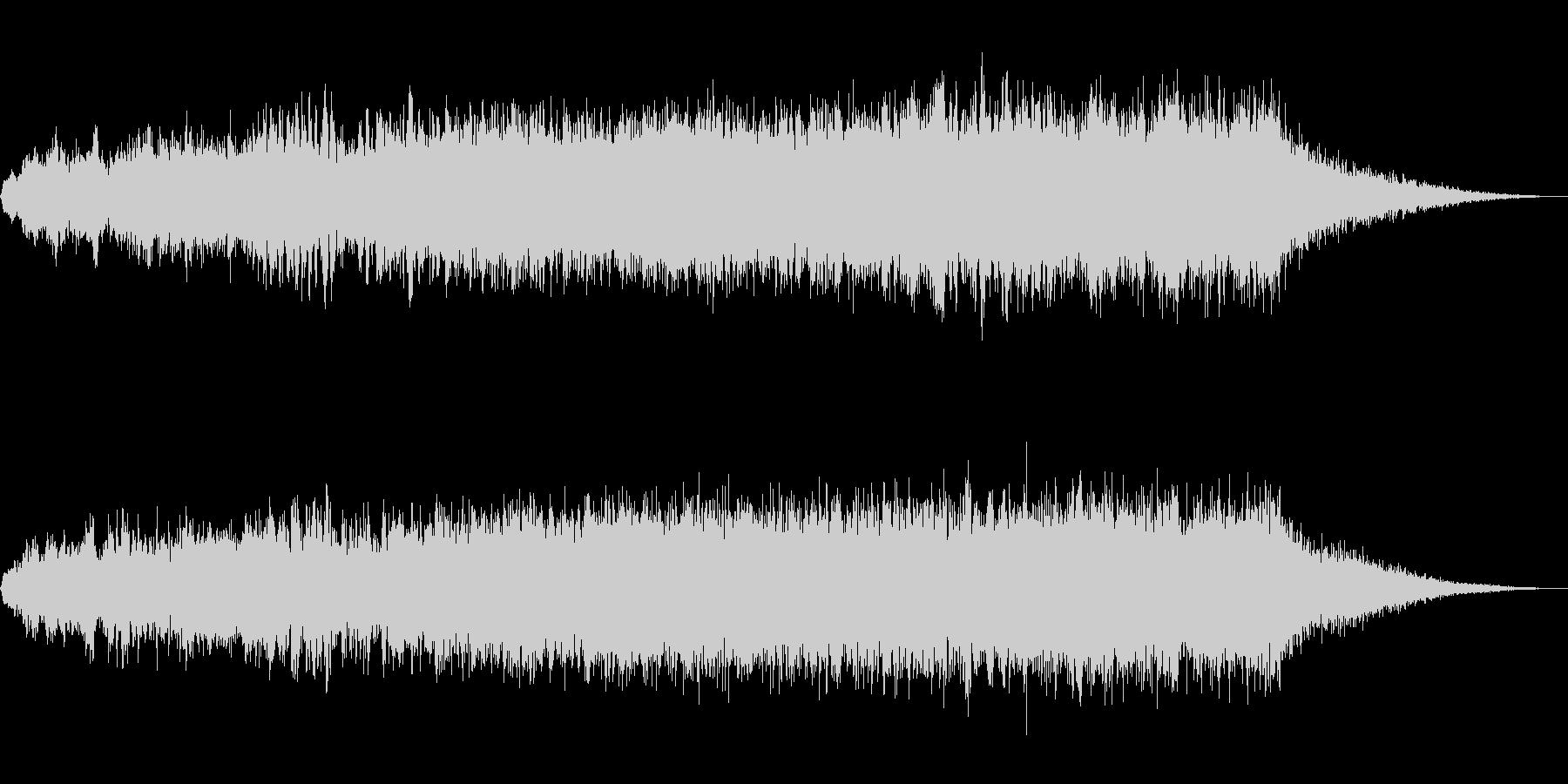 ホラー、サスペンス調の奇妙な音の未再生の波形