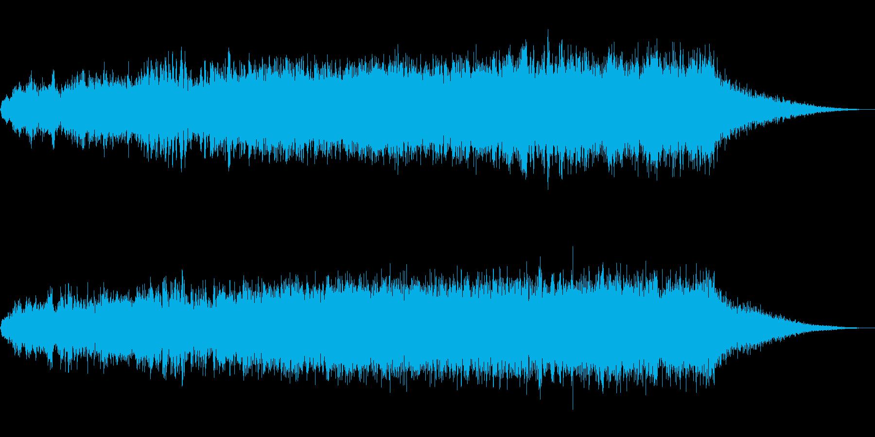 ホラー、サスペンス調の奇妙な音の再生済みの波形