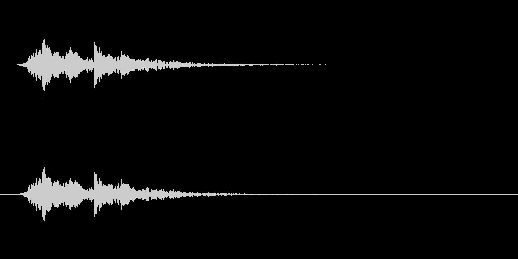 【アクセント12-5】の未再生の波形