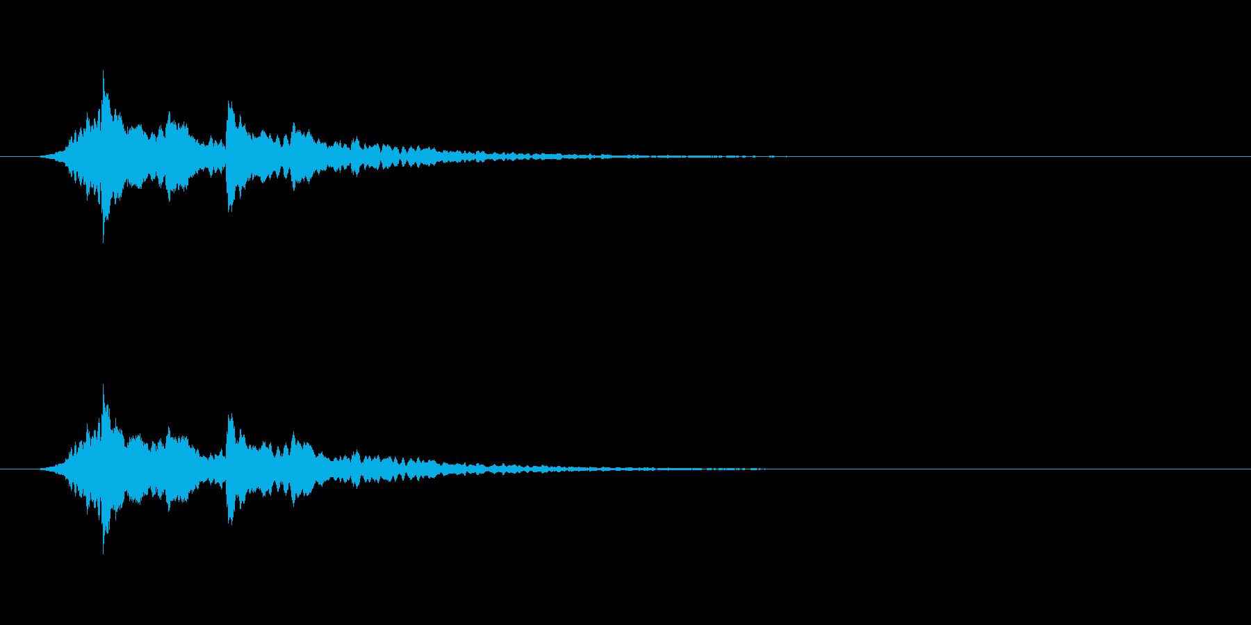【アクセント12-5】の再生済みの波形