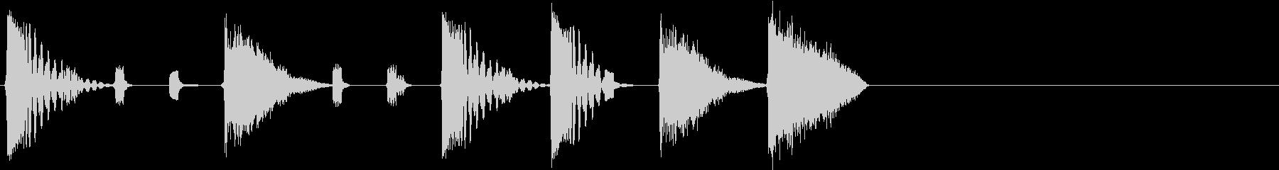 選択画面のイメージの未再生の波形