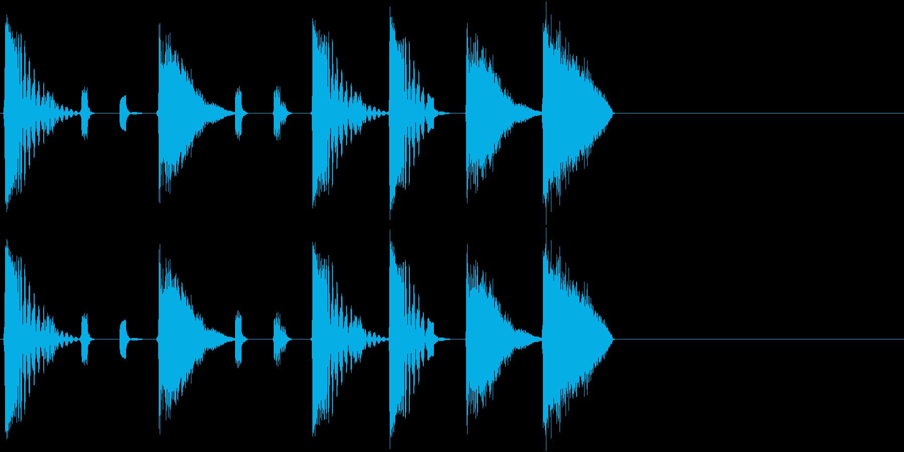 選択画面のイメージの再生済みの波形
