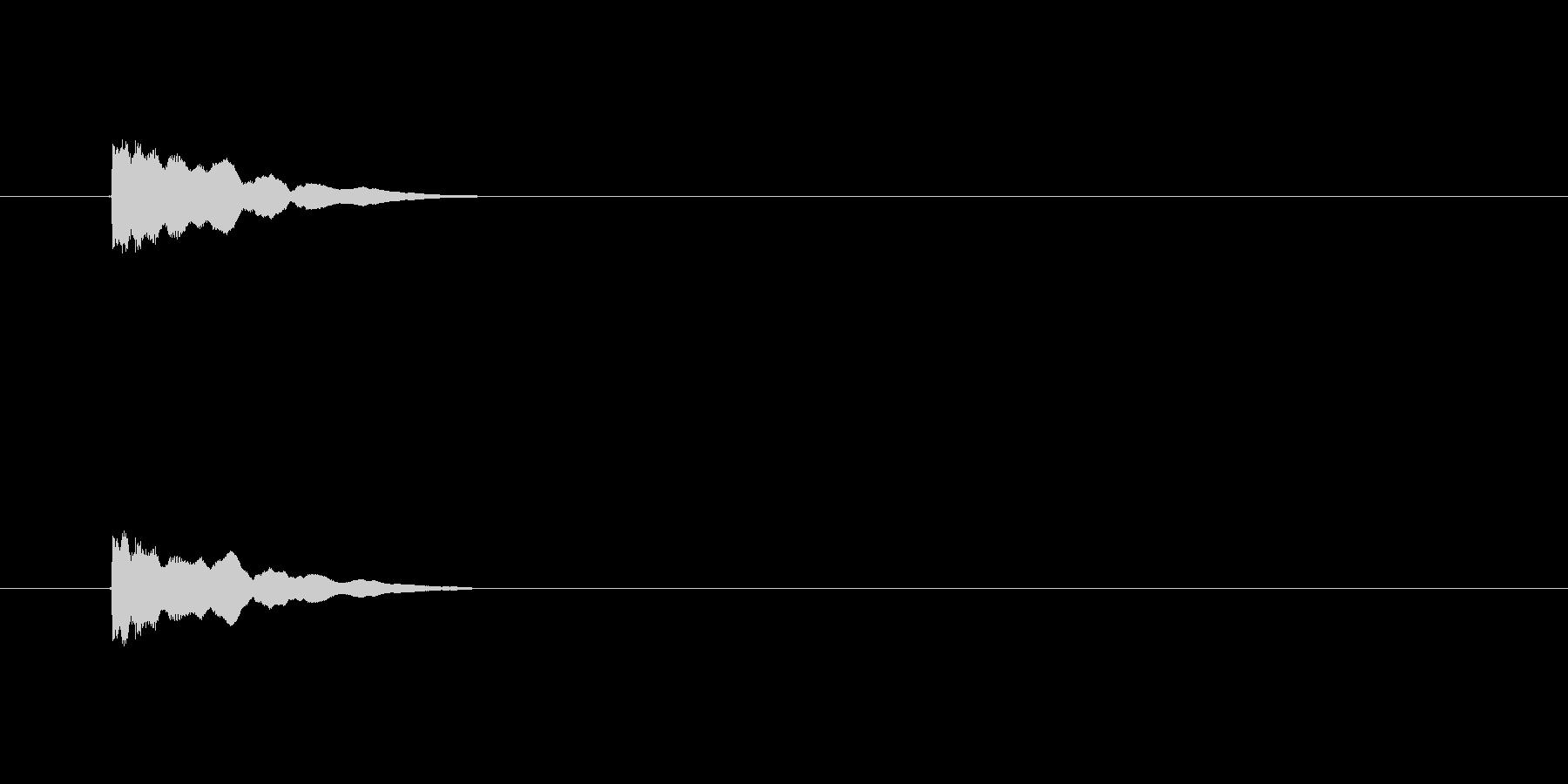 【アクセント28-4】の未再生の波形