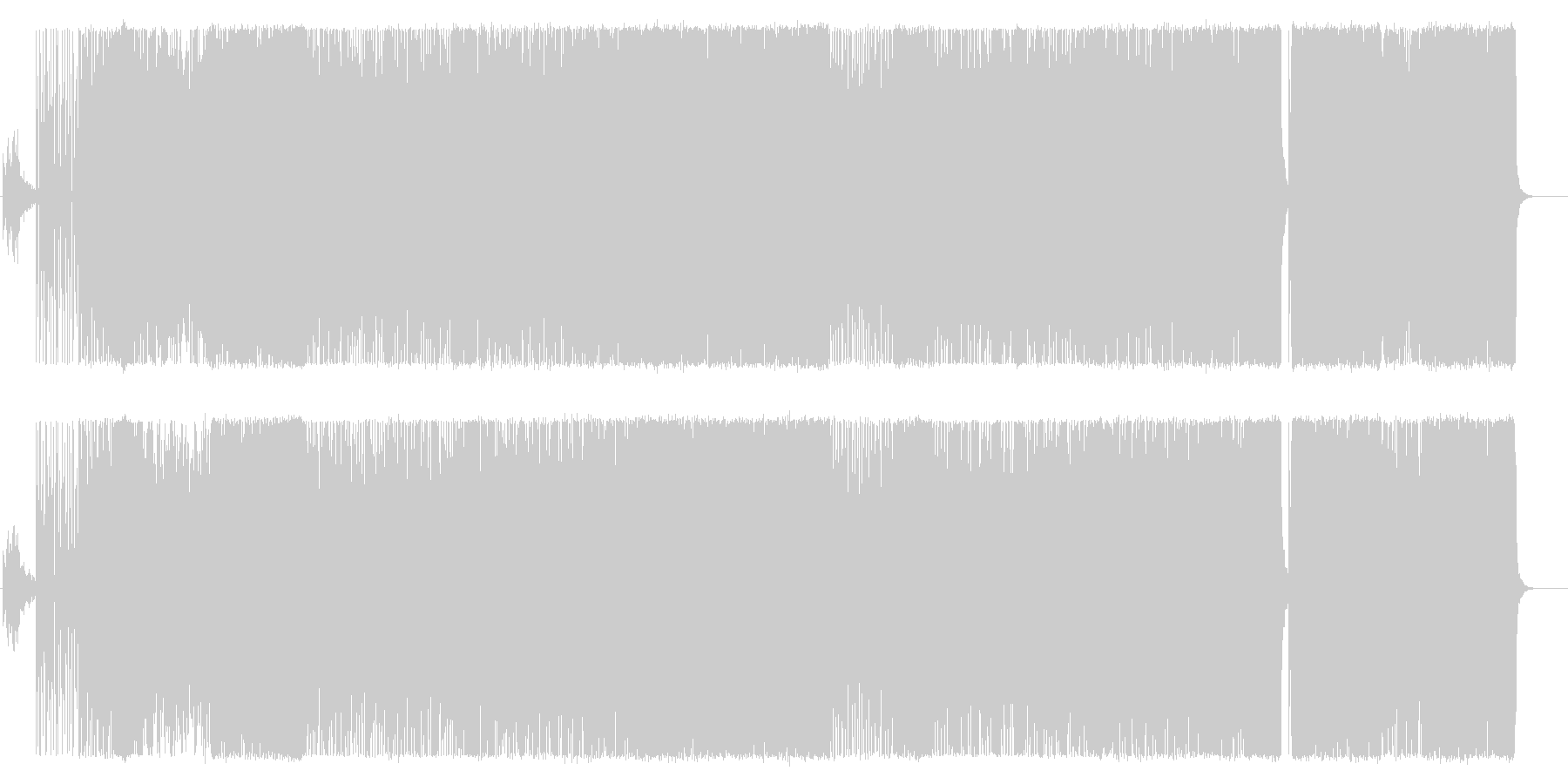 アコースティックテクノ系。アクション等の未再生の波形