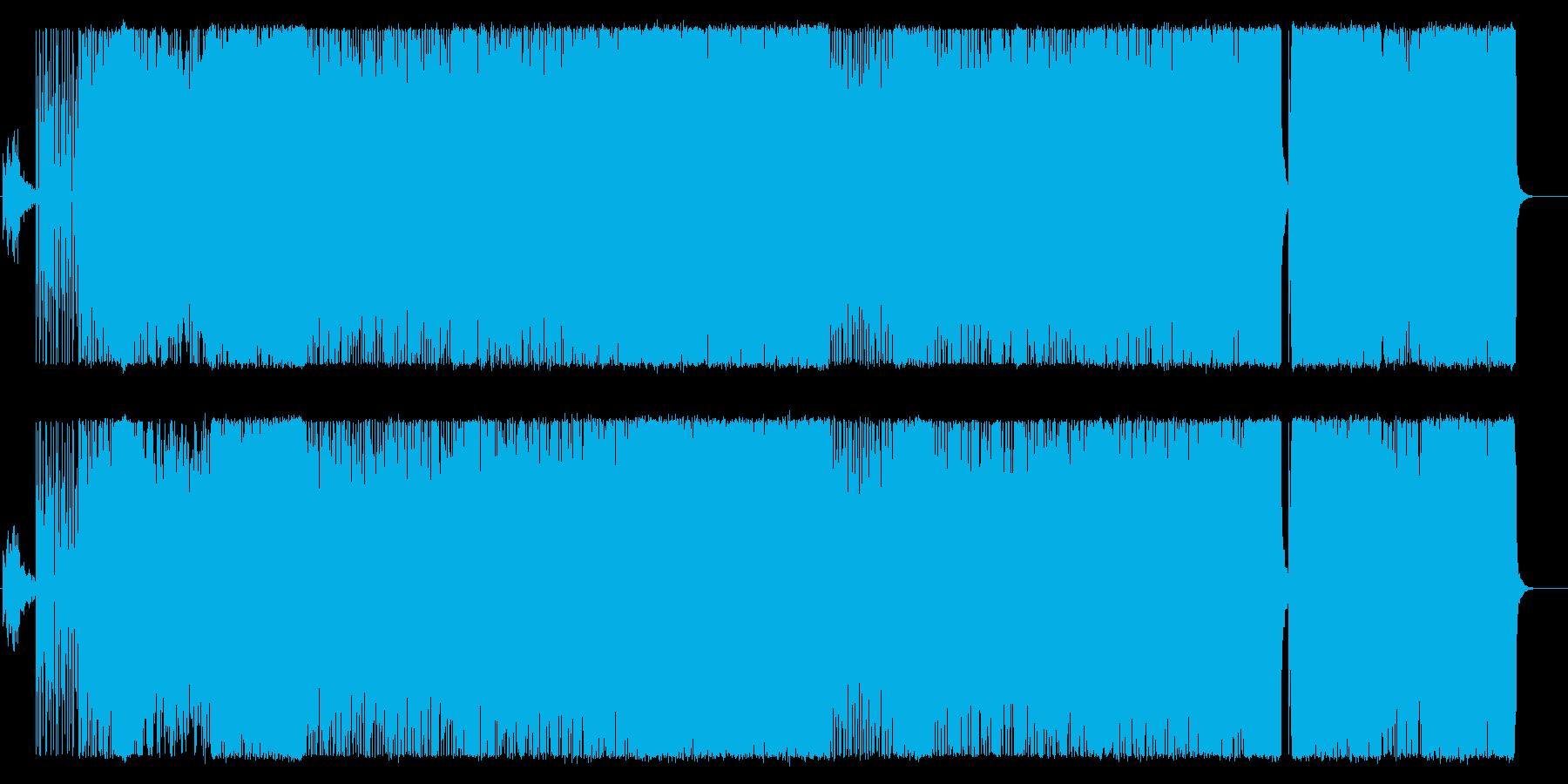 アコースティックテクノ系。アクション等の再生済みの波形